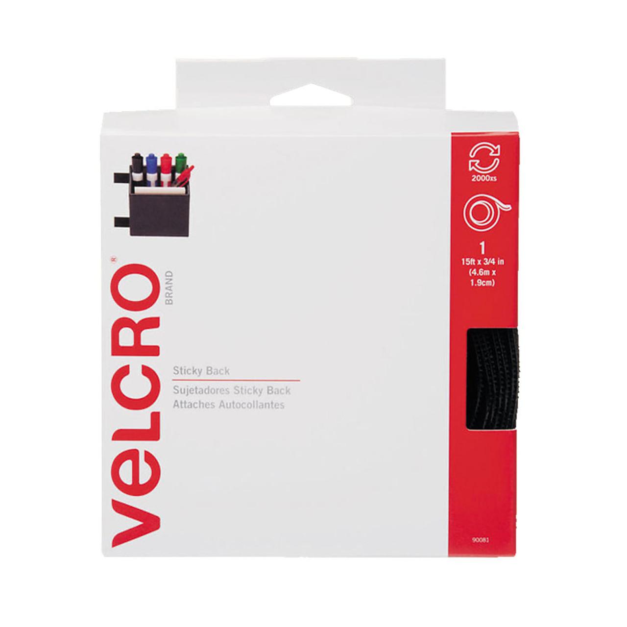 """3/4"""" x 15' VELCRO® Brand Hook & Loop Tape - Black / Velcro Fasteners"""