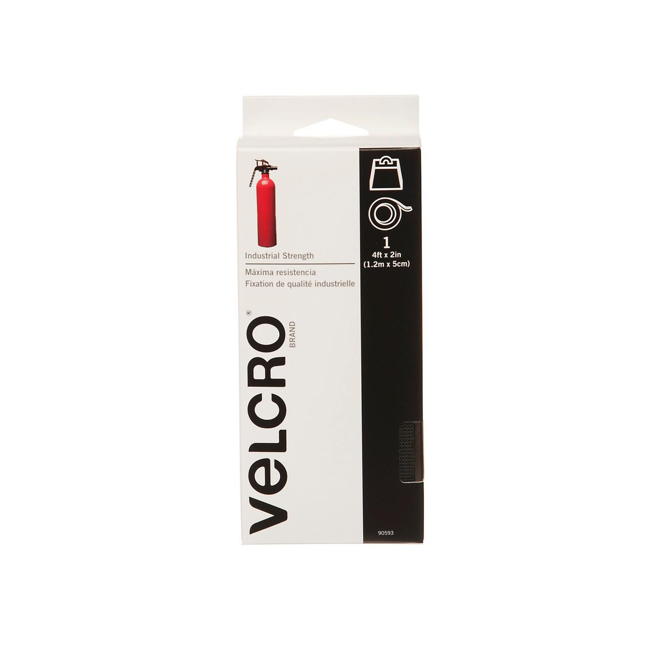 """2"""" x 4' VELCRO® Brand Industrial Strength Tape Hook & Loop Black"""