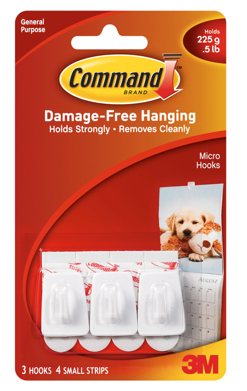 3M™ Command™ Micro Hooks Pack of 3