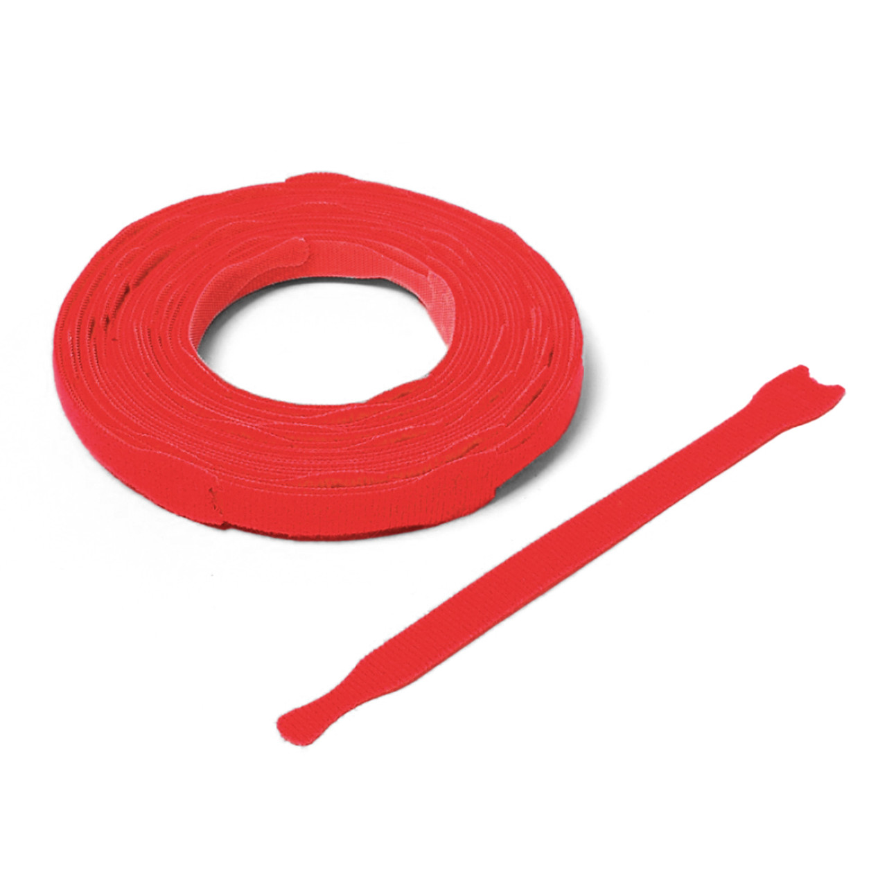 VELCRO ® Brand ONE-WRAP ® Die-Cut Straps - Red  / Velcro Straps - Bundling Straps - Velcro Tie - Velcro Strap
