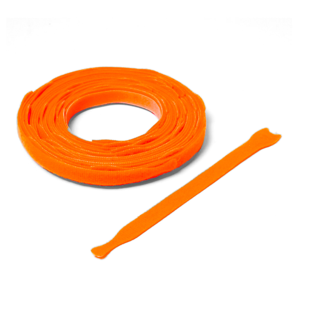 VELCRO ® Brand ONE-WRAP ® Die-Cut Straps - Orange  / Velcro Straps - Bundling Straps - Velcro Tie - Velcro Strap
