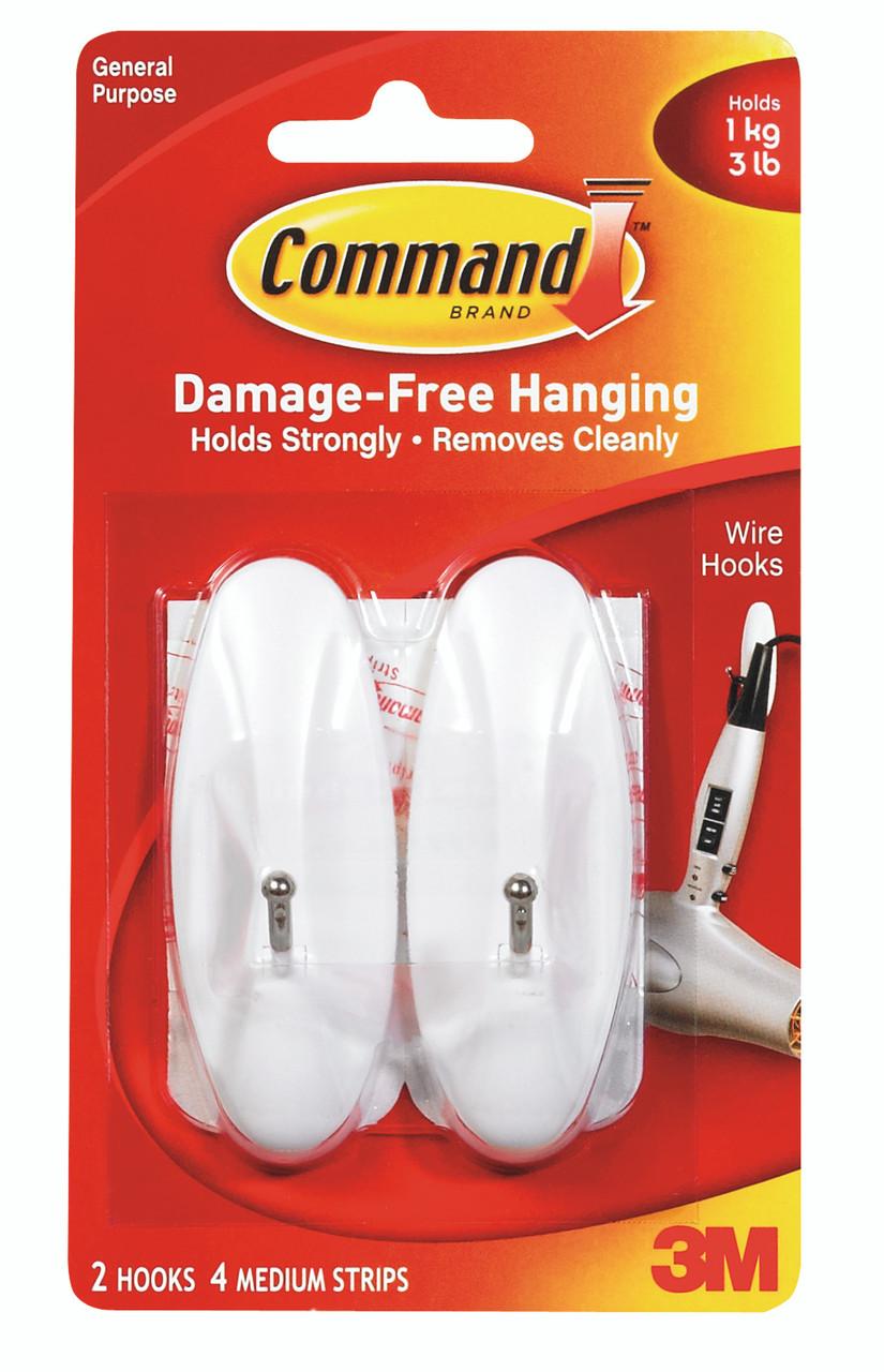 3M™ Command™ Medium Wire Hooks Pack of 2