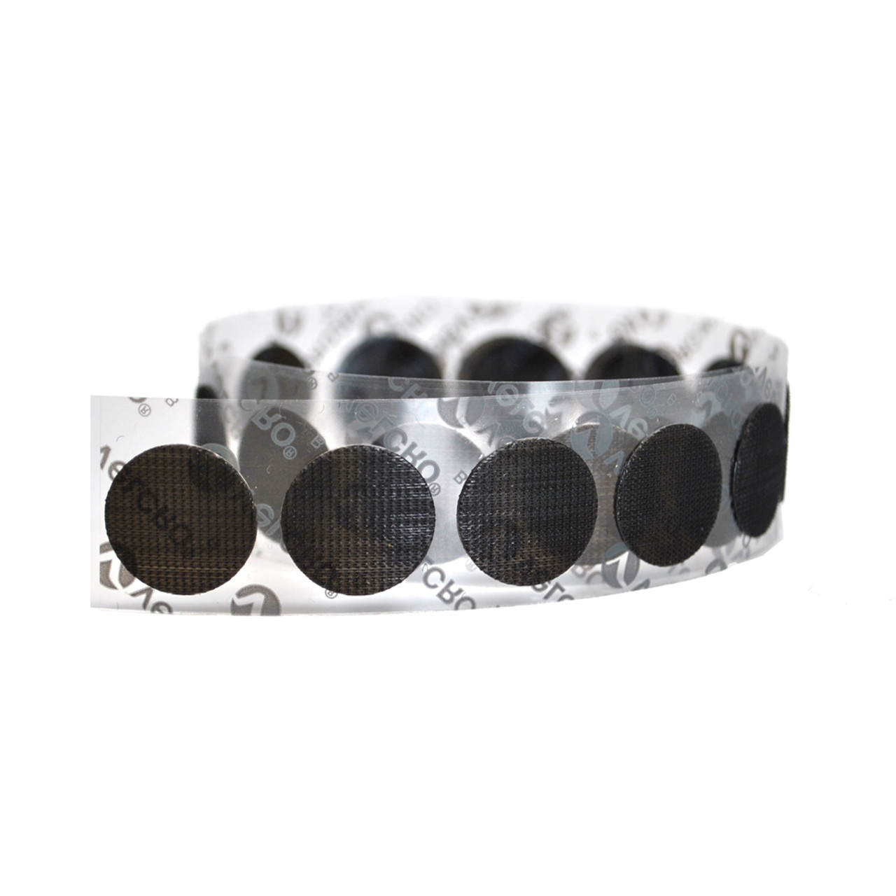 VELCRO® Brand Low Profile Circles On A Roll Black