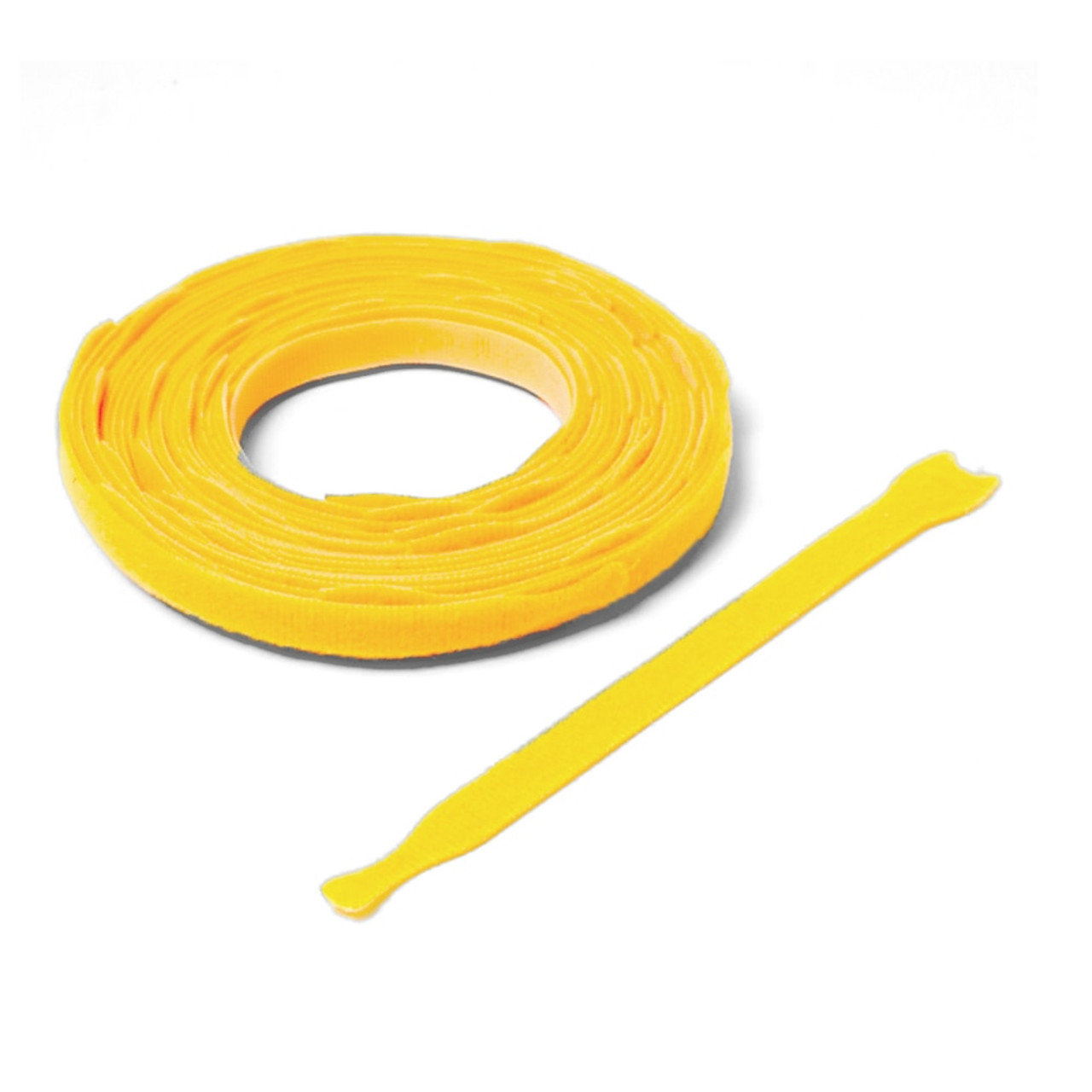 VELCRO ® Brand ONE-WRAP ® Die-Cut Straps - Yellow / Velcro Straps - Bundling Straps - Velcro Tie - Velcro Strap