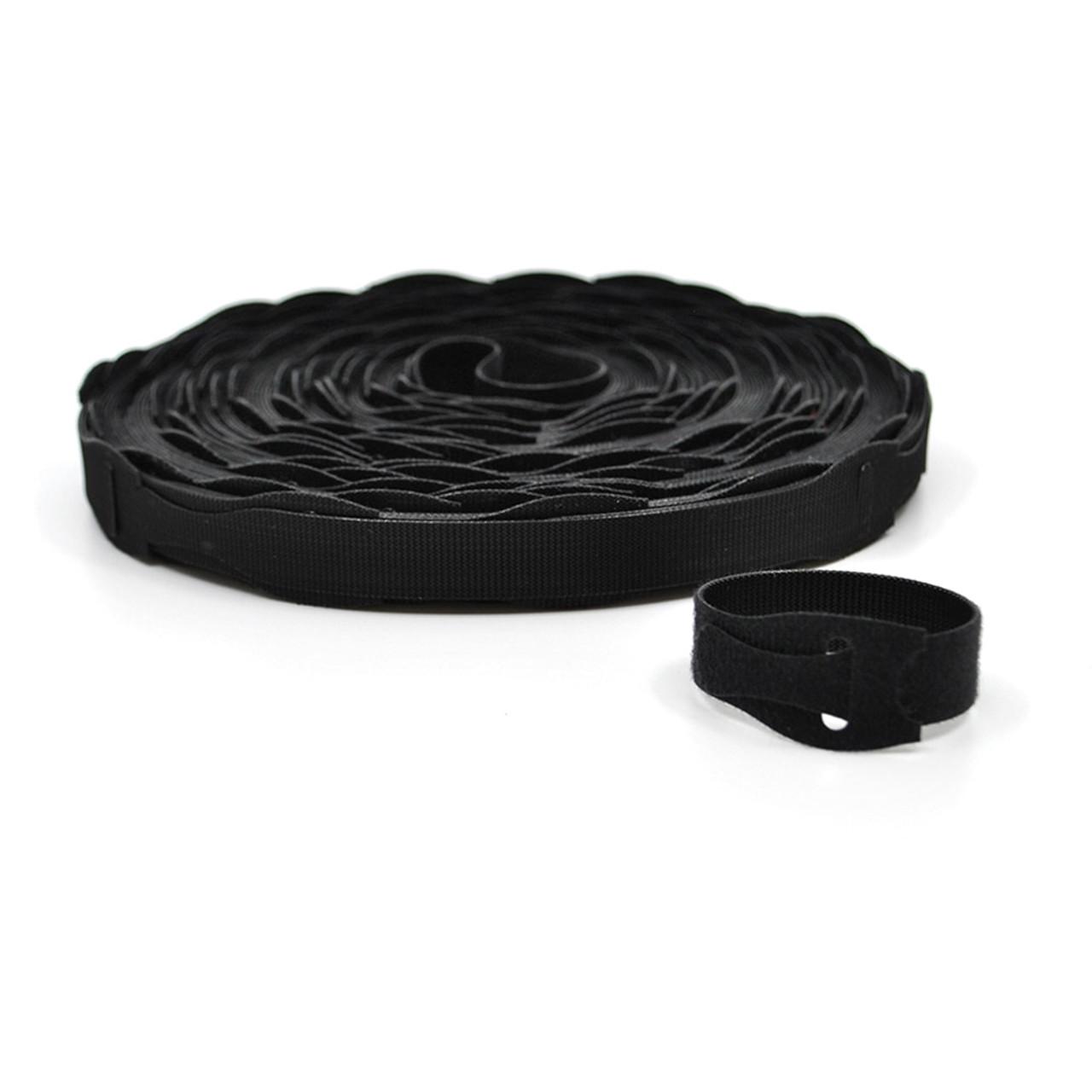 VELCRO® Brand QWIK Tie Die-Cut Straps Black / Velcro Straps - Bundling Straps - Velcro Tie - Velcro Strap