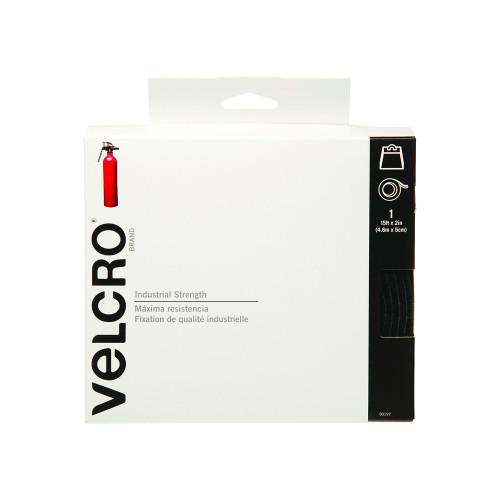 """Industrial Strength VELCRO® Brand  Tape Hook & Loop Black 2"""" x 15' / Industrial Strength Velcro - Heavy Duty Velcro - Commercial Grade Velcro"""