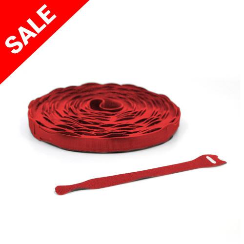 """VELCRO® Brand QWIK Tie Die-Cut Straps - 3/4"""" x 8"""" Red Velcro Straps - Bundling Straps - Velcro Tie - Velcro Strap"""