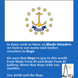 """We are Rhode Islanders And """"Hope"""" Is Our Motto - Pass It On"""
