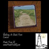 Walking At Black Point Coasters at Made From RI