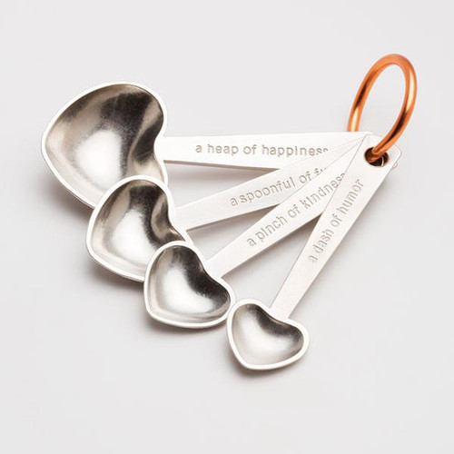 Heart Measuring Spoons with Quotes