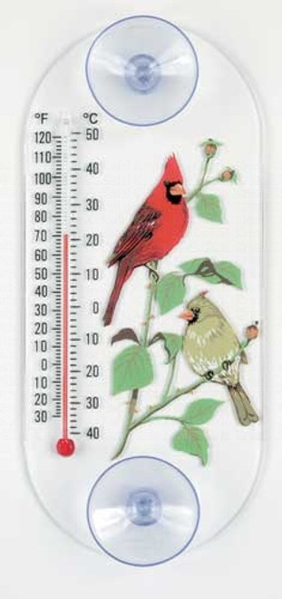 Window Thermometer- Acrylic- Cardinal Pair