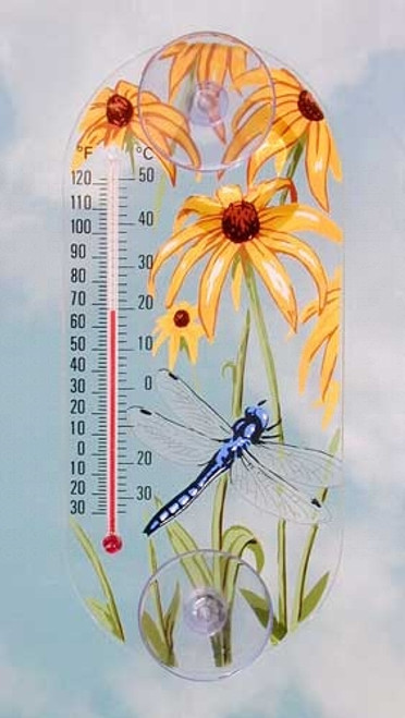 Window Thermometer- Acrylic- DragonFly