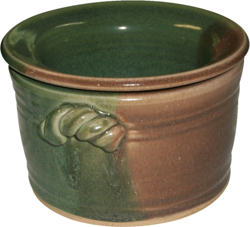 Ceramic Hot-Cold Dip Bowl (Green-Brown)