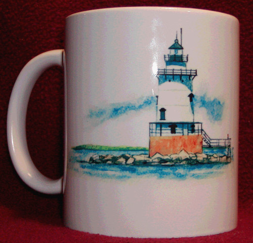 Rhode Island Lighthouse Series Mug-Conimicut Light