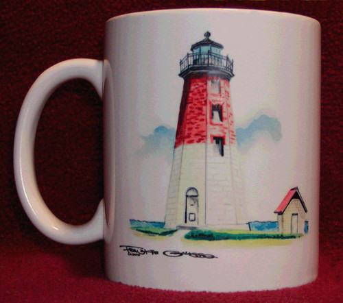 Rhode Island Lighthouse Series Mug-Point Judith Lighthouse