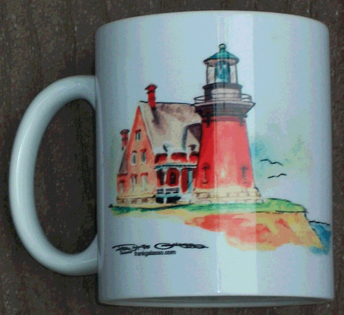 Rhode Island Lighthouse Series Mug-Block Island Southeast Lighthouse