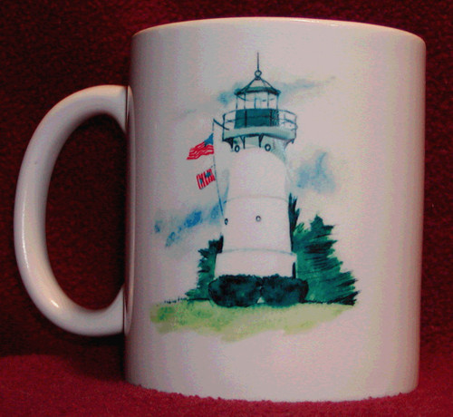 Rhode Island Lighthouse Series Mug-Warwick Light