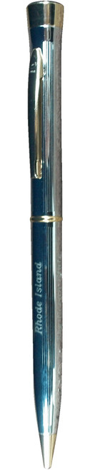 Garland Pen - Signature Collection- Chrome with Golden Accents