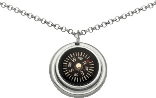 Necklace - Small Compass Necklace with chainNecklace - Small Compass Necklace with chain