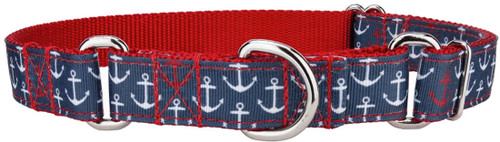Web Martingale Collar - Anchor RWB