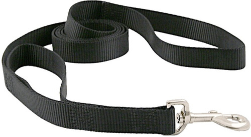 Double loop dog leash - dog lead - black