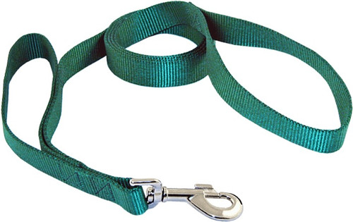 Double loop dog lash - dog lead - green
