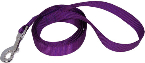 Single loop dog leash- dog lead- purple