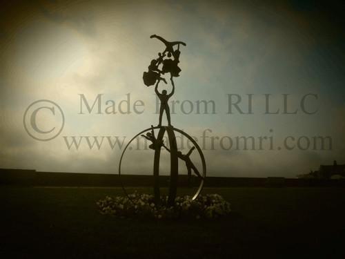 Narragansett Beach Sculpture Morning Fog