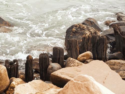 Remains Of Old Pier Narragansett