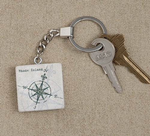 Tile Key Tags - Compass Rose