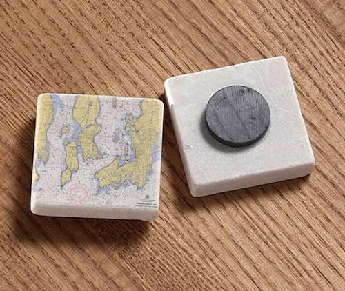 Newport - Jamestown Tile Magnet - Chart