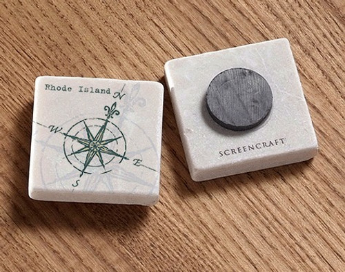 Tile Magnet - Compass Rose