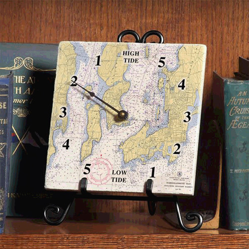 Tile Tide Clock- Newport Jamestown Chart