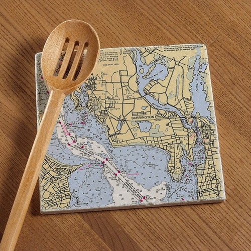 Barrington Chart Tile Trivet