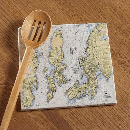 Newport Jamestown with Bridges Chart Tile Trivet