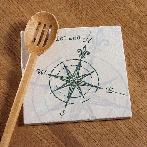 Tile Trivet - Compass Rose