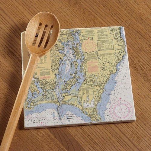Point Judith Chart Tile Trivet