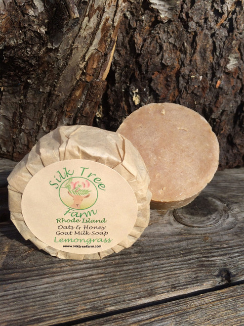 Oats and Honey Goat Milk Soap- Lemongrass Sage