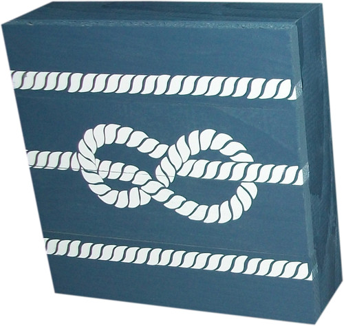 Box with knot in line- Blue
