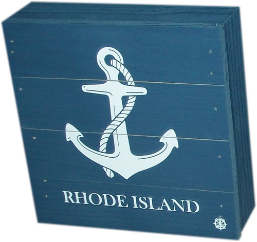 Box- Anchor with Rhode Island- Blue