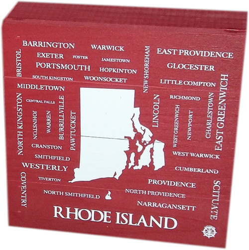 Box- Cities and Towns of RI- Red