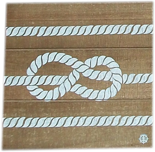 Wood Plank Wall Hanger- Knot in Line