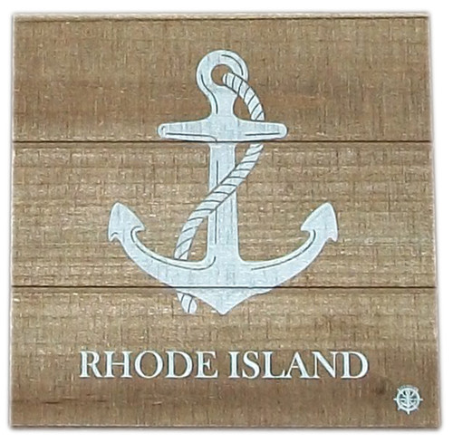 Wood plank hanging- Anchor- RI- Brown