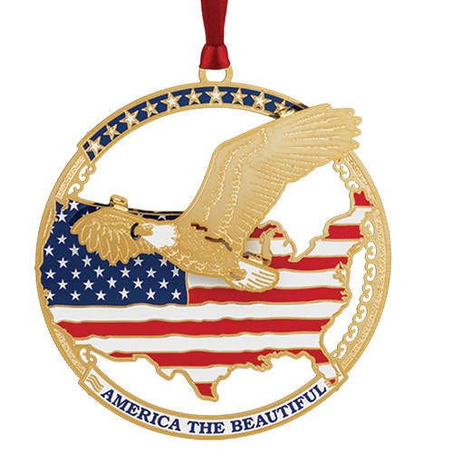 America The Beautiful Ornament
