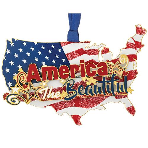 Patriotic America Ornament