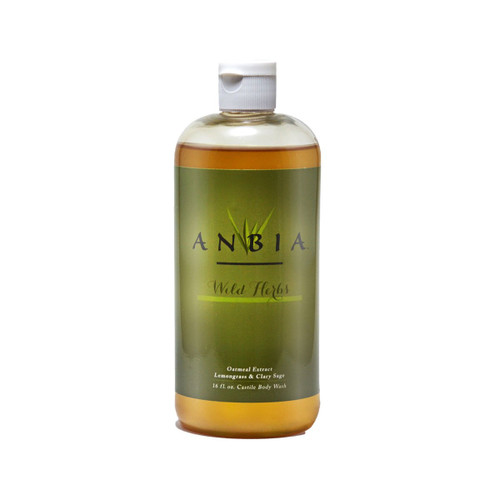 ANBIA Castile Body Wash Soap (16 fl oz) -  Wild Herbs