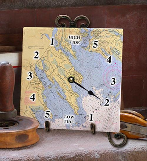 Tile Tide Clock- Buzzards Bay