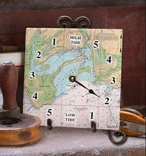 Tile Tide Clock- Clinton Harbor