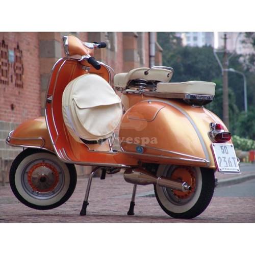 Orange Classic Vespa
