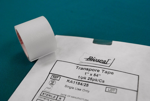"""Transpore Tape 1"""" x 54"""", 1/pk 25/pk/cs"""